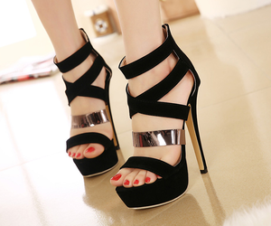 black shoes, clothes, and shoes image