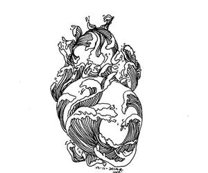 heart, art, and ocean image