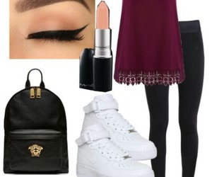 air force, eyeliner, and maroon image