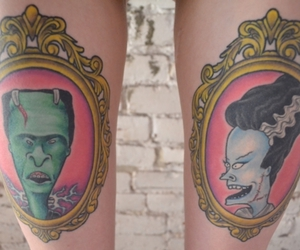 beavis and butthead, Pin Up, and Frankenstein image