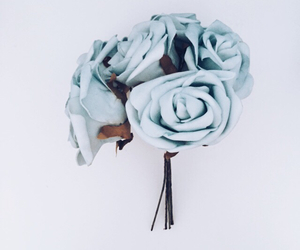 blue, floral, and flower image