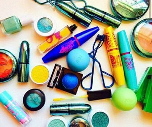 makeup, blue, and eos image