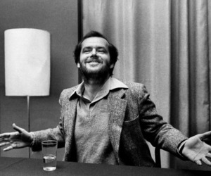 jack nicholson, black and white, and actor image