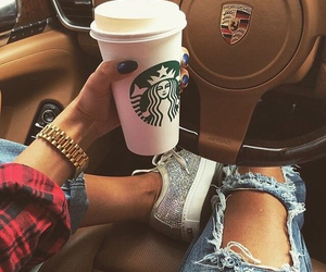 starbucks, car, and style image