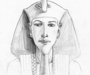 art, drawing, and egyptian image