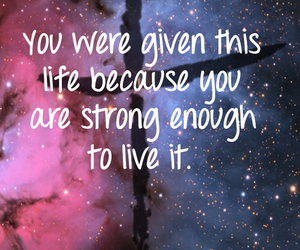 quotes, life, and galaxy image