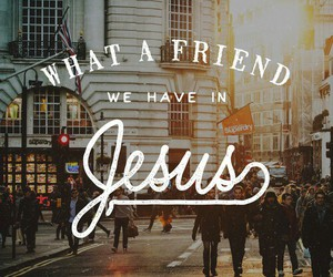 jesus, friend, and god image