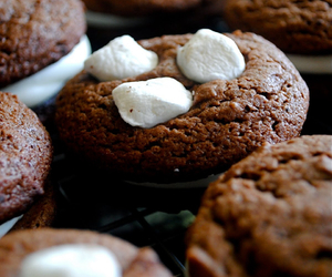 chocolate, Cookies, and marshmallows image
