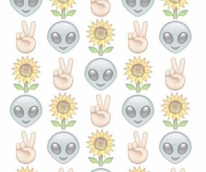 wallpaper, alien, and flowers image