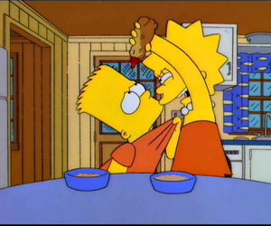 the simpsons, lisa, and bart image