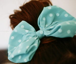 blue, cute, and bow image