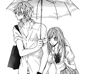 black and white, shoujo, and love image