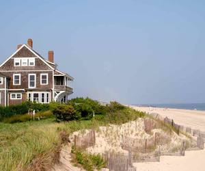 beach, happy, and house image