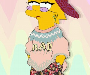 simpsons, lisa, and rad image