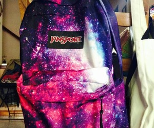 awesome, backpack, and galaxy image