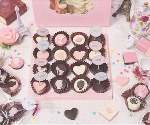 chocolate, hearts, and paris image