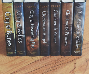 books, city of bones, and city of heavenly fire image