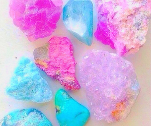 crystal, pink, and stone image
