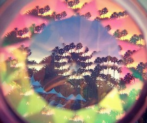 crazy, kaleidoscope, and sunset image