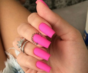 nails, pink, and jv image