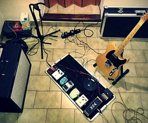 amp, guitar, and music image