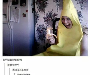banana, funny, and tumblr image