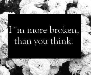 broken, sad, and think image