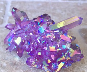 purple, crystal, and diamond image