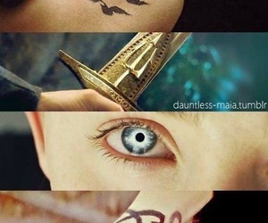 books, tattos, and hunger games image