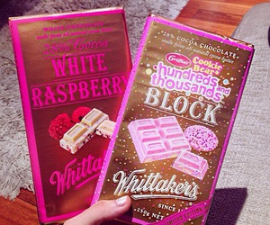 chocolate, food, and pink image