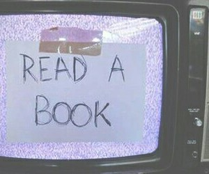 books, grunge, and funny image