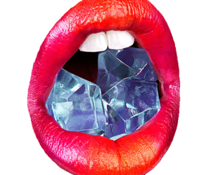 lips, red, and ice image