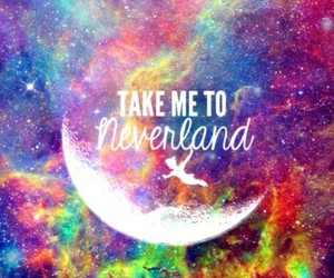galaxy, neverland, and peter pan image