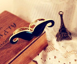 moustache, ring, and mustache image