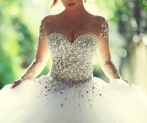 beautiful, dresses, and boda image