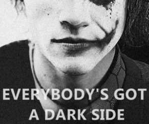 joker, dark, and dark side image