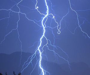 blue, lightning, and storm image