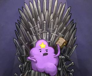 adventure time, game of thrones, and lumpy space princess image