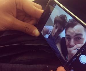 friend, phone, and selfie image