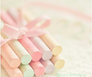 pastel, cute, and chalks image