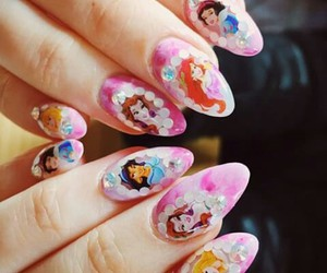 disney, nails, and princess image