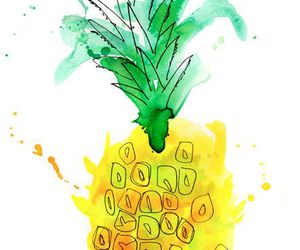 art, watercolor, and fruit image