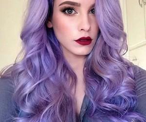 hair and purple hair image