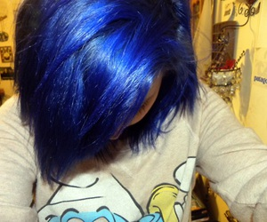 blue hair, girl, and fashion image