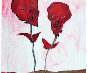 Marilyn Manson, art, and flowers image