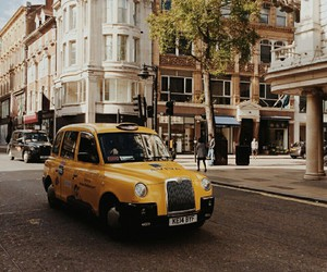 london, photography, and taxi image