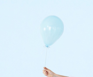blue, balloon, and pastel image