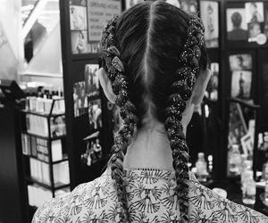 braid, glitter, and hair image