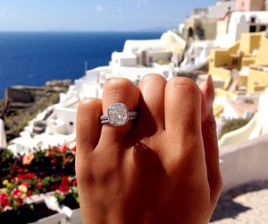 ring, diamond, and Greece image