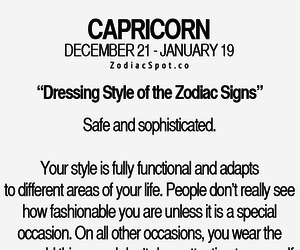 capricorn and dressing style image